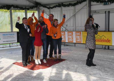 Ruby van Urk tijdens opening Bennebroek Winter Wonderland