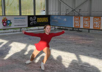 Willemijn van Dijk tijdens opening Bennebroek Winter Wonderland